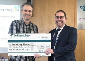 The Pioneer Group fundraise charity Promising Futures